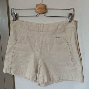 Ellison HighWaisted Cream Shorts Sz Medium